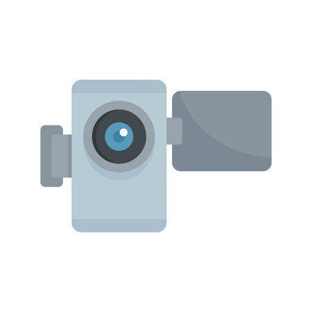 Home video camera icon, flat style