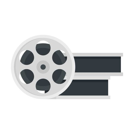 Film metal roll icon, flat style