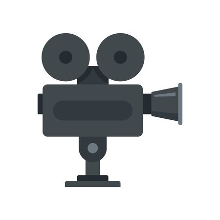 Cinema camera icon, flat style Illusztráció