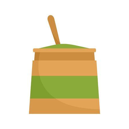 Matcha cream icon, flat style
