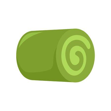 Matcha tea roller icon, flat style Çizim