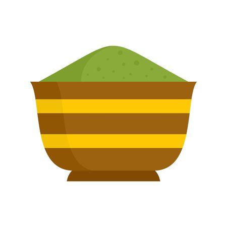 Matcha bowl icon, flat style Çizim