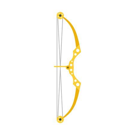 Sport bow icon, flat style 일러스트