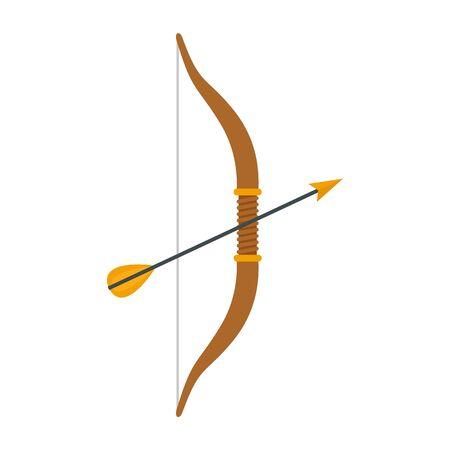 Arrow bow icon, flat style