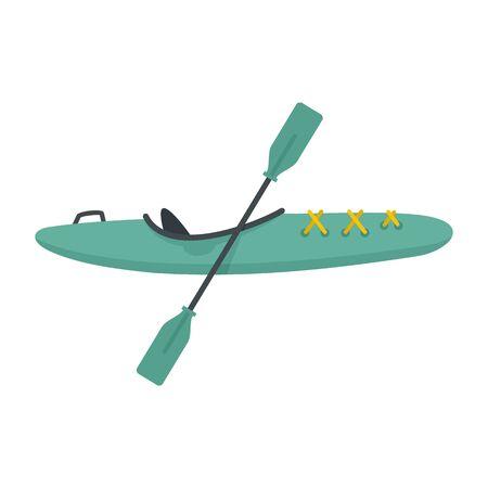 Sport kayak icon, flat style