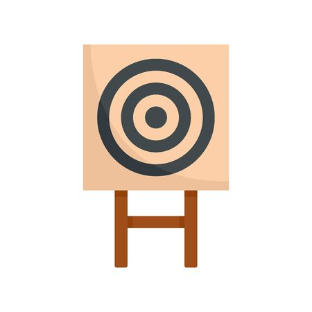 Paper arch target icon, flat style