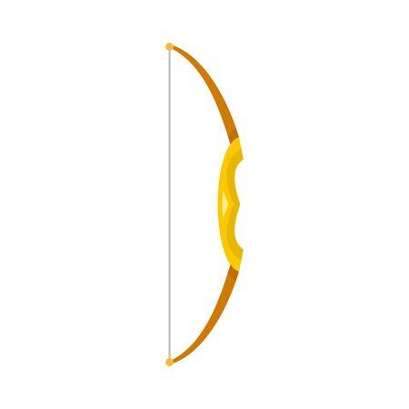 Archery bow icon, flat style