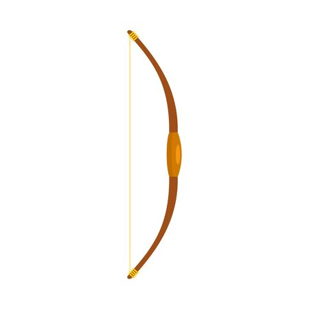 Wood bow icon, flat style