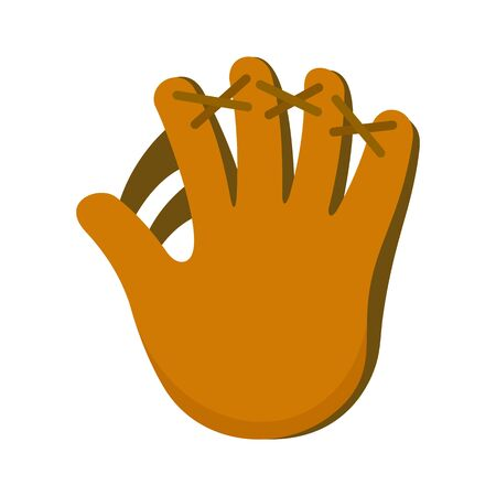 Baseball glove icon, flat style 向量圖像