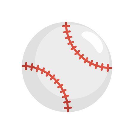 Baseball ball icon, flat style 版權商用圖片 - 131603646