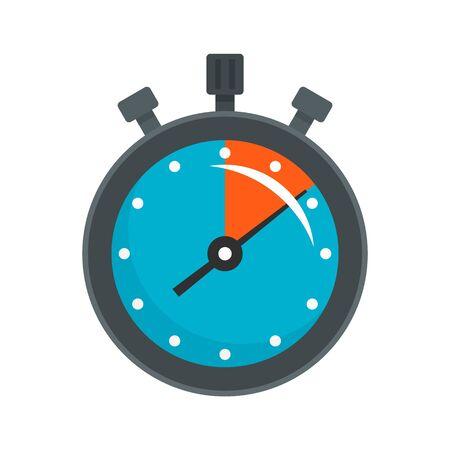 Stopwatch icon, flat style Banco de Imagens - 131848699