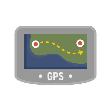 Gps device icon, flat style Çizim