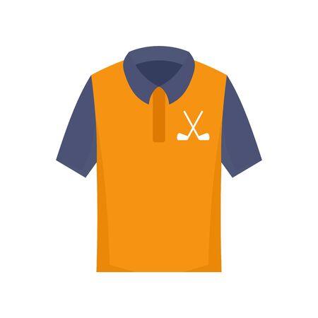 Golf polo shirt icon. Flat illustration of golf polo shirt vector icon for web design