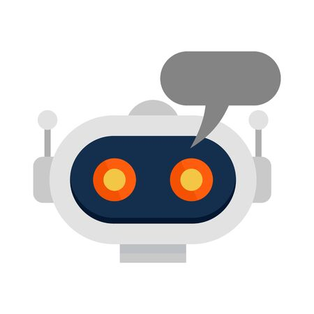 Chatbot icon, flat style