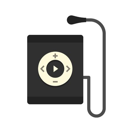 Music player icon, flat style
