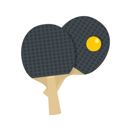 Table tennis paddle icon, flat style