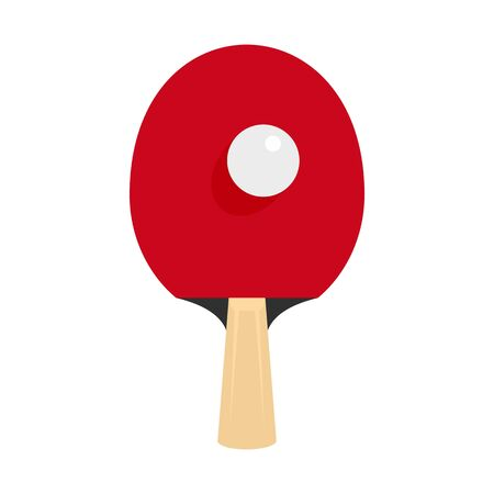 table tennis racket icon, flat style