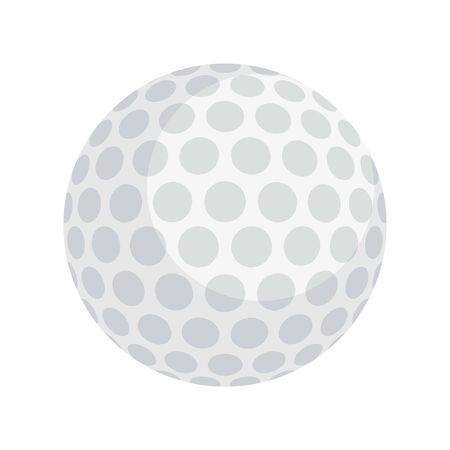 Golf ball icon, flat style