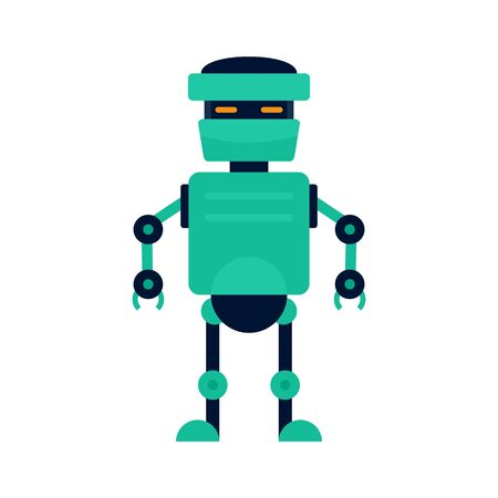 Artificial robot icon, flat style