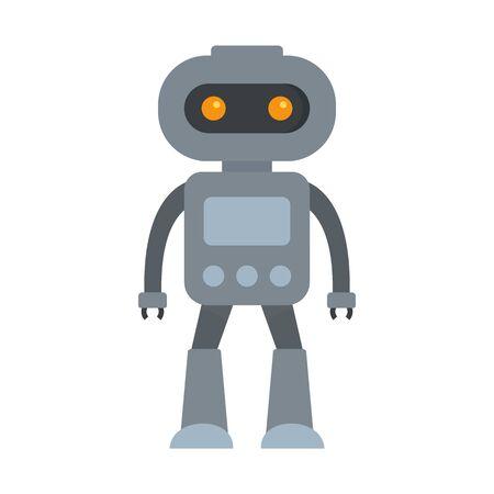 Alien robot icon, flat style Çizim