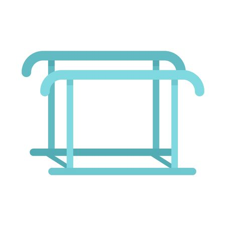 Uneven bars icon, flat style