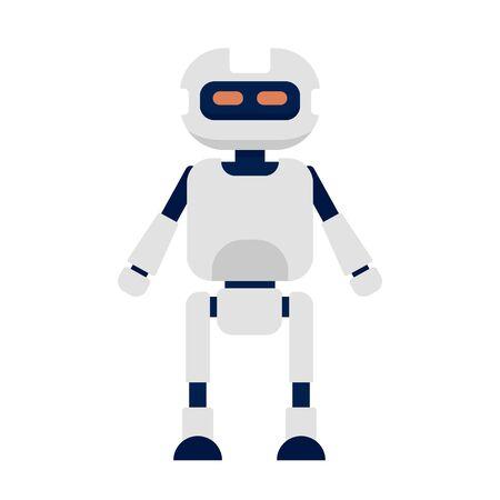 Humanoid icon, flat style Ilustracja