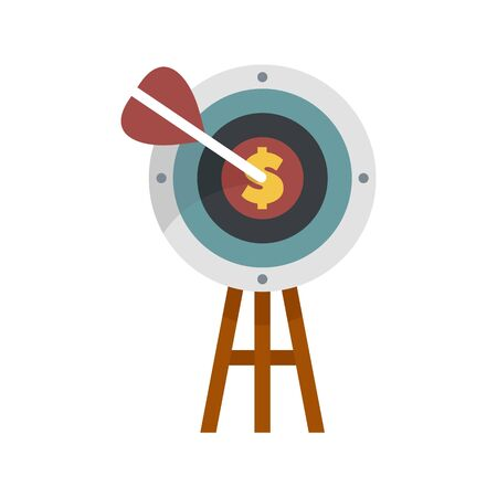 Business target icon. Flat illustration of business target vector icon for web design