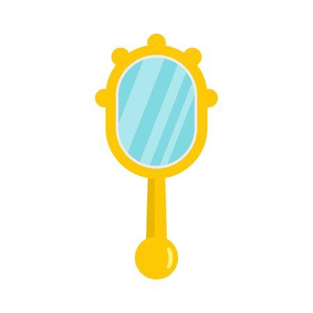 Hand mirror icon, flat style
