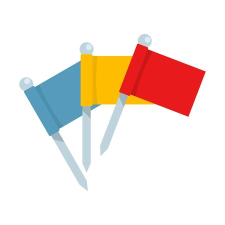 Croquet flags icon, flat style