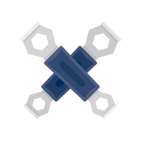 Bike key icon, flat style