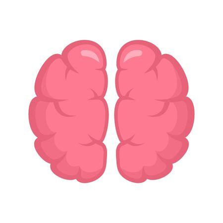 Human brain icon, flat style