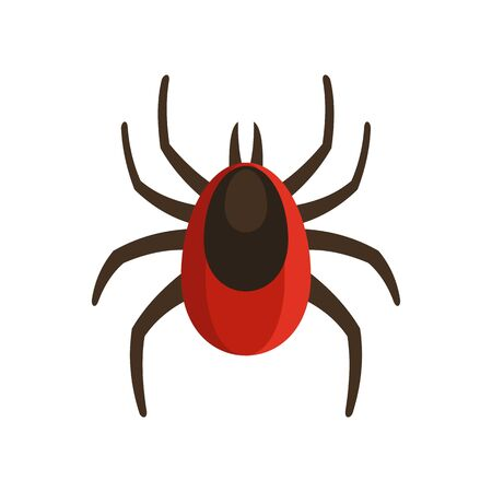 Infection mite icon, flat style