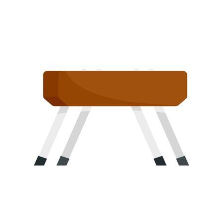 Pommel horse icon, flat style