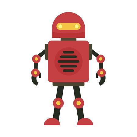 Robot icon, flat style Иллюстрация