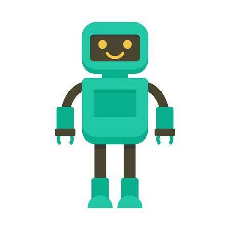 Intelligent robot icon, flat style