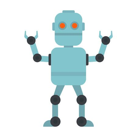 Cyber robot icon, flat style