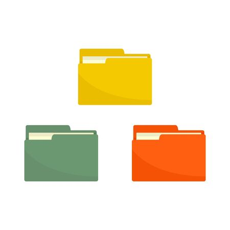 Folder network icon. Flat illustration of folder network vector icon for web design Stok Fotoğraf - 131757801