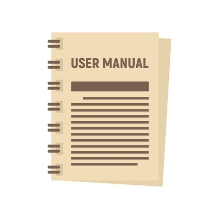 User manual icon, flat style