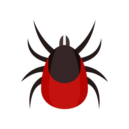 Allergy mite icon. Flat illustration of allergy mite vector icon for web design