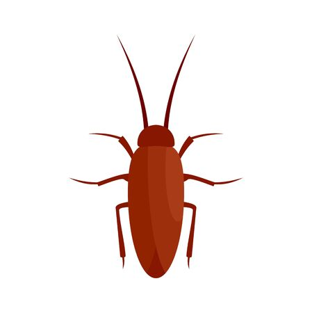 Cockroach insect icon, flat style