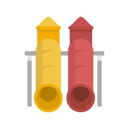 Tower kid pipe icon. Flat illustration of tower kid pipe vector icon for web design