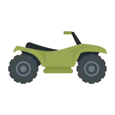 Terrain quad bike icon. Flat illustration of terrain quad bike vector icon for web design