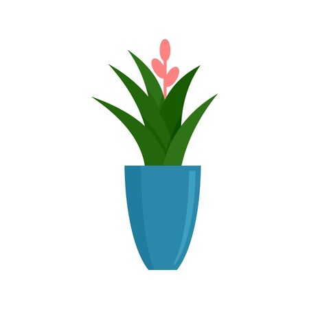 Office flower pot icon. Flat illustration of office flower pot vector icon for web design