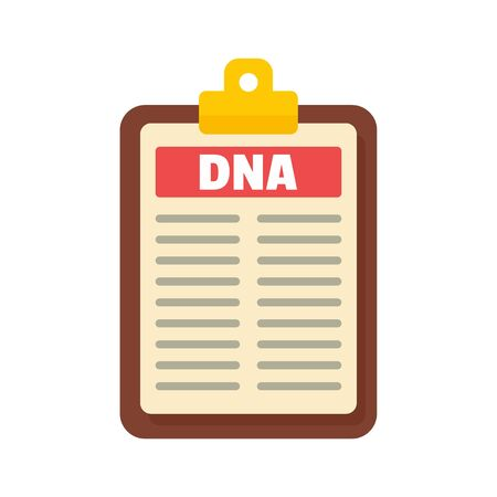 Dna checkboard icon, flat style Stock Illustratie