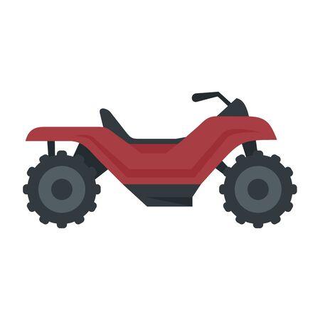 Long quad bike icon, flat style