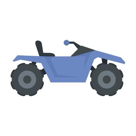Dirt quad bike icon, flat style Stock fotó - 131868685