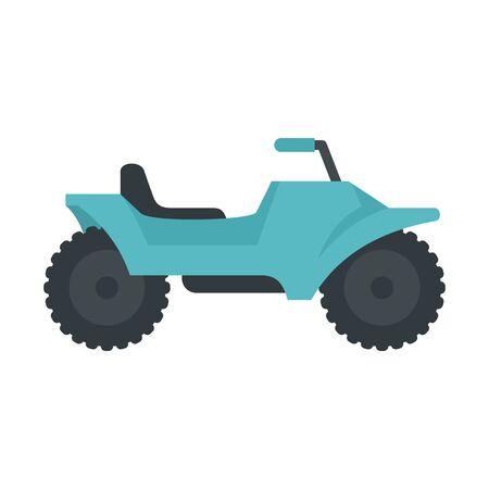 Desert quad bike icon, flat style Illusztráció