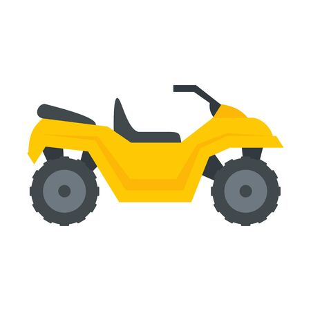 Atv quad bike icon, flat style 일러스트