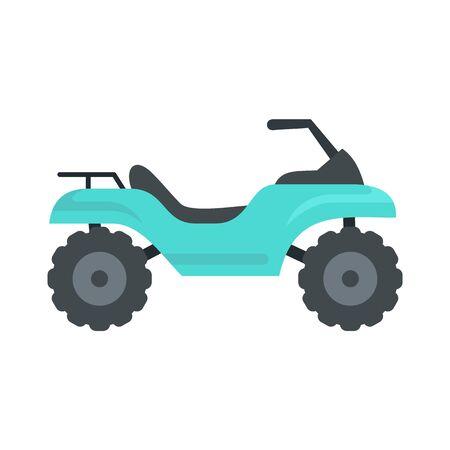 Challenge quad bike icon, flat style Illusztráció