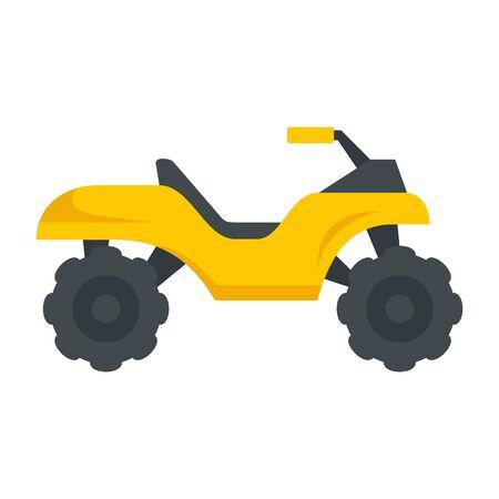 Top quad bike icon, flat style Stock fotó - 131868751